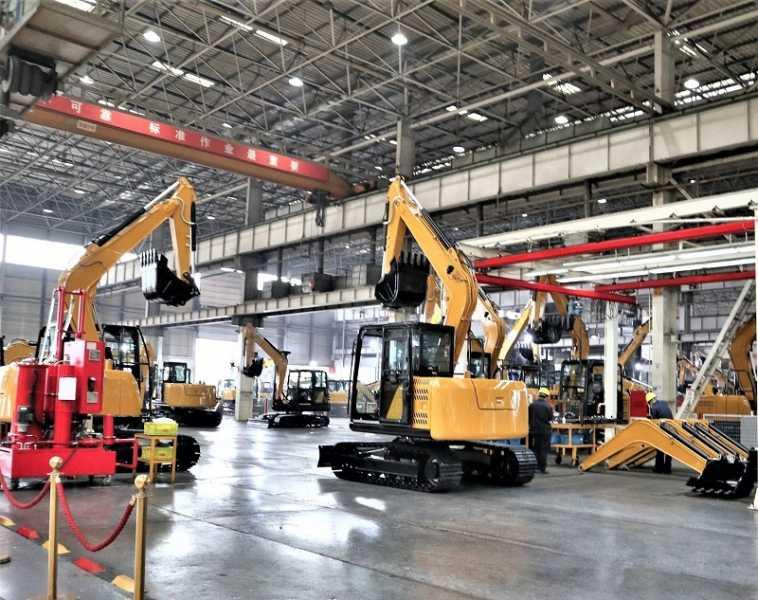 Pabrik Excavator SANY berukuran kecil dan sedang.