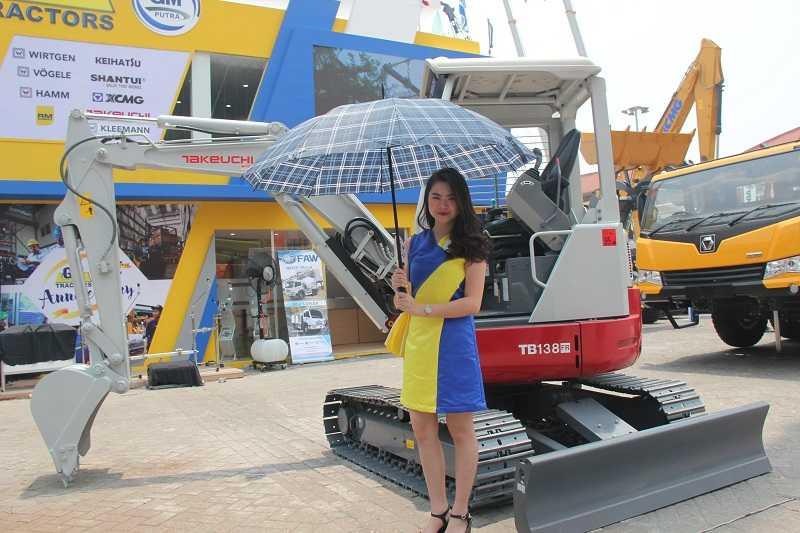 Mini excavator Takeuchi yang diageni oleh PT Gaya Makmur Traktor (EI)