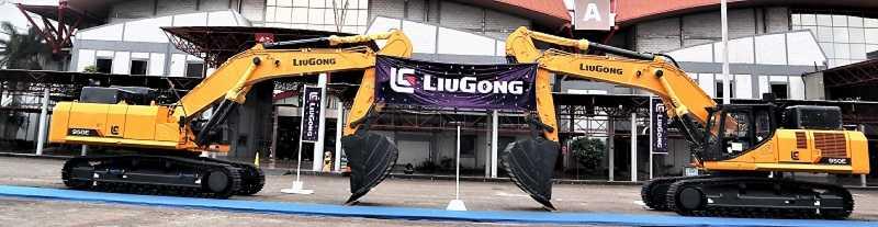 Excavator LiuGong kelas 50 ton dan 20 ton