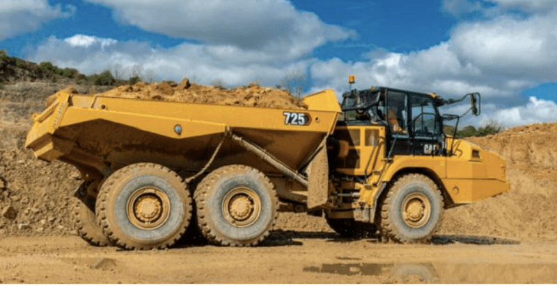 Articulated truck Cat 725