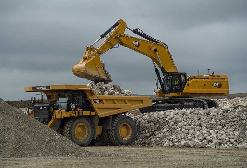 Excavator CAT 395 yang menyedot perhatian pengunjung pada Conexpo 2020 (Dok. Cat)