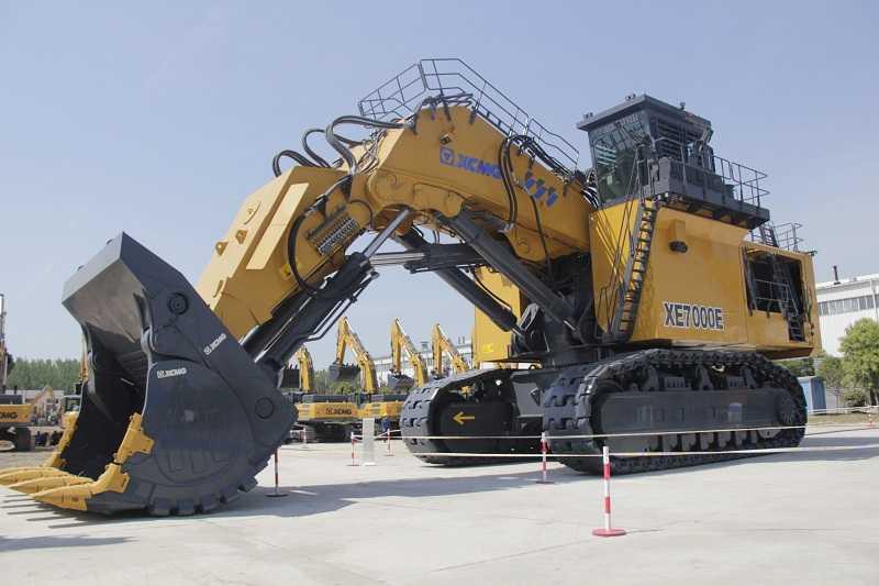 Salah satu excavator terbesar XCMG untuk pekerjaan tambang (Foto: EI)