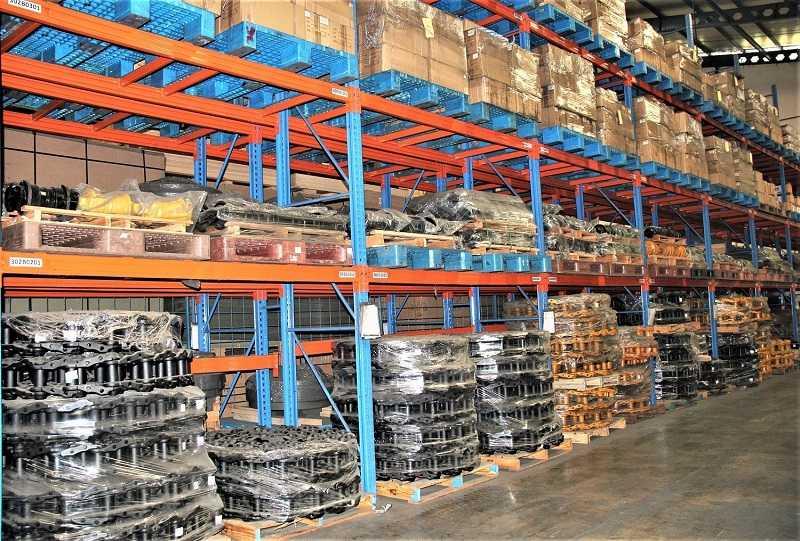 Stok komponen-komponen Undercarriage PT Dayasakti Mitra Mandiri untuk mendukung operasi alat-alat berat di berbagai jobsite (Foto: EI)