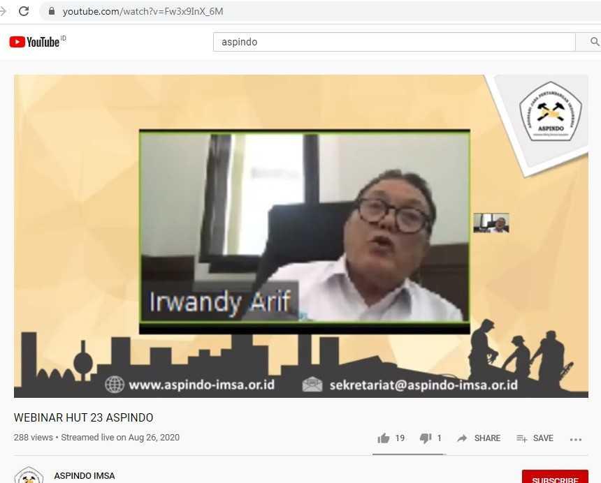 Staf Khusus Menteri ESDM Bidang Tata Kelola Mineral dan Batubara Prof. Irwandy Arif