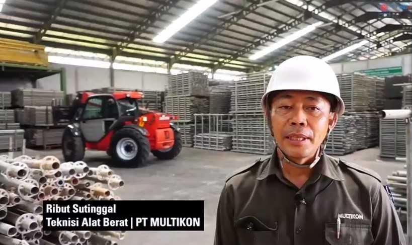 Ribut Sutinggal, teknisi alat berat dari Multikon