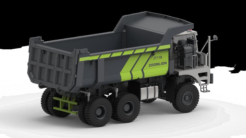 Zoomlion dump truck, ZT118, untuk operasi tambang (Sumber: Zoomlion)