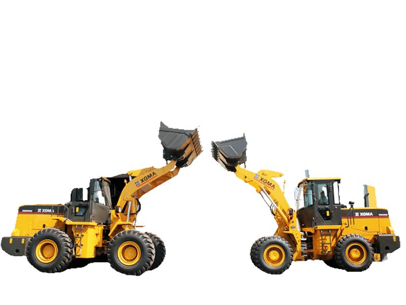 Dua alat berat andalan Dayasakti: (Ki-Ka) Wheel Loader XG955H dengan kapasitas bucket 3,0 m3 dan XG935H dengan kapasitas bucmet 1,8 m3