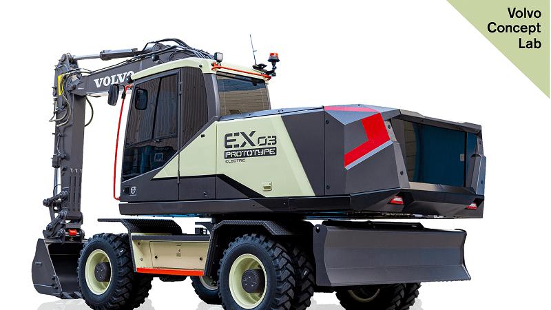 Excavator listrik Volvo EX03 didesain untuk menawarkan level kebisingan yang rendah dan tanpa emisi