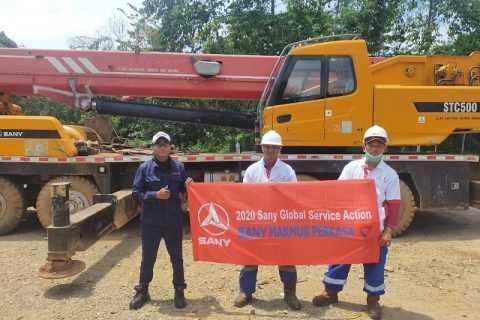 SANY mengakhiri kampanye servis tahun 2020 yang dilakukan di enam pulau di Indonesia. (Foto: SANY)