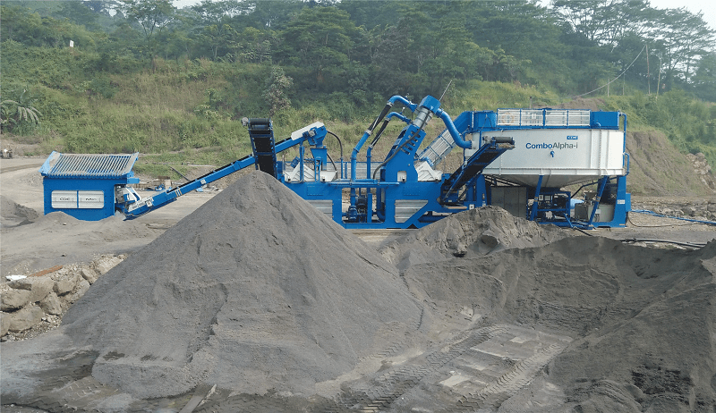 Mesin Cuci Pasir CDE yang telah terpasang di Jawa Barat.