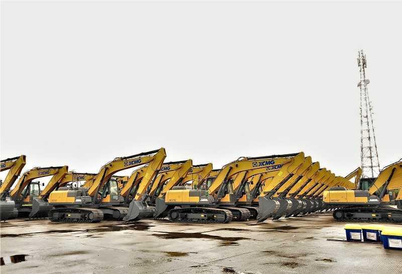 Unit-unit excavator baru XCMG kelas 20 – 30 ton tiba di Jakarta awal Maret 2021 (Kredit foto: XCMG)